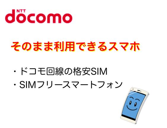 ドコモ回線の格安SIMからの乗り換えではそのまま使える